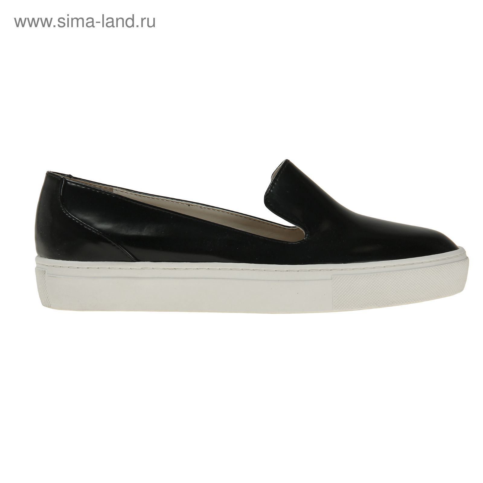 8133945f0 Туфли (слипоны) женские, цвет чёрный, размер 38 (арт. 1616033019 ...