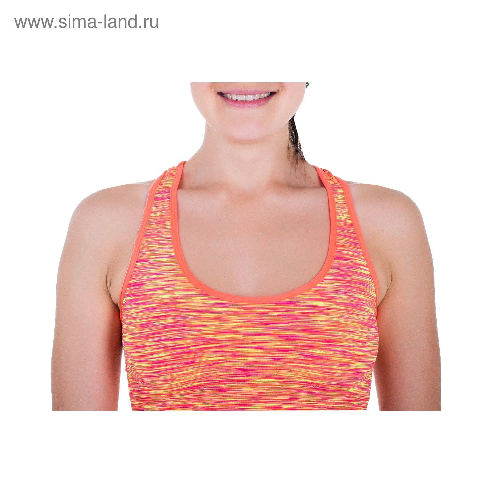 Спортивная майка ONLITOP Fitness time coral, размер S-M (42-44)